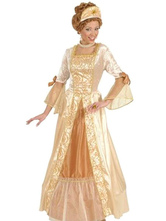 Anime Costumes AF-S2-663941 Women's Vintage Costume Halloween Champagne Dress With Headgear