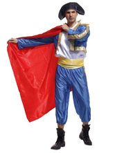 Anime Costumes AF-S2-663933 Sexy Bullfighter Costume Halloween Men's Blue Spanish Pants Outfit