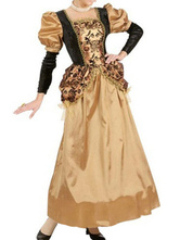 Anime Costumes AF-S2-663935 Halloween Vintage Costume Women's Gold Dress Retro Costume