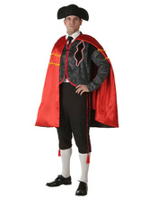 Anime Costumes AF-S2-663929 Sexy Bullfighter Costume Halloween Men's Black Spanish Pants Outfit