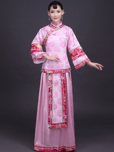 Anime Costumes AF-S2-664459 Women's Chinese Costume Halloween Pink Fancy Dress