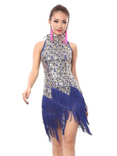Anime Costumes AF-S2-664397 Latin Dance Costume Women's Sequined Fringe Dress