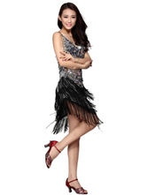 Anime Costumes AF-S2-664413 Latin Dance Costume Women's Sequined Fringe Dress