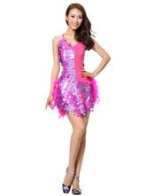 Anime Costumes AF-S2-664391 Latin Dance Costume Women's Rose Sequined Dress