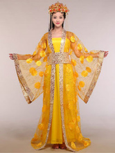 Anime Costumes AF-S2-664447 Women's Chinese Costume Ancient Queen Halloween Yellow Fancy Dress