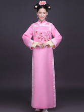 Anime Costumes AF-S2-664457 Women's Chinese Costume Halloween Cheongsam Fancy Dress Pink Gown Outfit