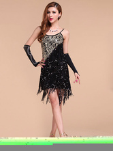 Anime Costumes AF-S2-664439 Latin Dance Costume Women's Black Dress Ballroom Costume