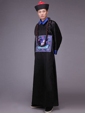 Anime Costumes AF-S2-664453 Men's Chinese Costume Halloween Ancient Officer Black Gown With Hat