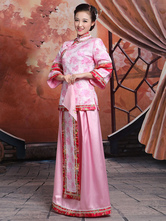 Anime Costumes AF-S2-664679 Halloween Chinese Costume Women's Hanfu Pink Fancy Dress