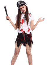 Anime Costumes AF-S2-664729 Zombie Couple Costume Halloween Vampire Walking Dead Costume Outfit