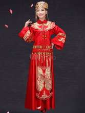 Anime Costumes AF-S2-664755 Traditional Chinese Costume Halloween Asian Wedding Cheongsam Outfit