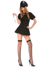 Anime Costumes AF-S2-664721 Cop Couple Costume Halloween Black Outfit Set
