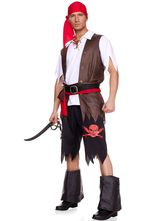 Anime Costumes AF-S2-664725 Pirate Couple Costume Halloween Adult Role Play Costume Outfit