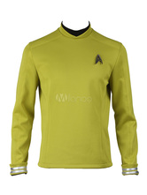 Anime Costumes AF-S2-664853 Star Trek Beyond Spock Halloween Cosplay Costume Yellow T Shirt