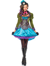 Anime Costumes AF-S2-666153 Retro Steampunk Costume Women's Halloween Dress Outfit Vintage Costume