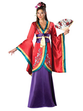 Anime Costumes AF-S2-666097 Halloween Japanese Costume Women's Red Satin Gown Outfit