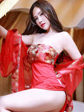 Anime Costumes AF-S2-666081 Sexy Cheongsam Costume Women's Red Dress Outfit