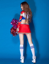 bf1aca67b13 Sexy Basketball Girl Costume Red Long Sleeve Top With Shorts Cheerleader  Costume