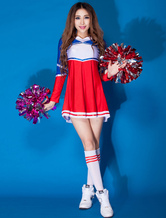 Anime Costumes AF-S2-666541 Sexy Basketball Girl Costume Red Long Sleeve Short Dress Cheerleader Costume