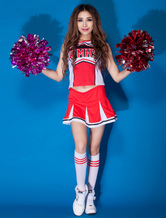 Anime Costumes AF-S2-666533 Sexy Basketball Girl Costume Red Long Sleeve Printed Cheerleader Costume