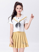 Anime Costumes AF-S2-666915 Japanese Anime Cosplay School Girl Uniform Yellow Uniform
