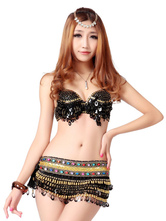 Anime Costumes AF-S2-666969 Sexy Jazz Dance Costume Black Sequined Top With Skirts Women's Dance Costumes
