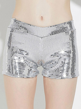 AF-S2-666949 Jazz Dance Costume Silver Sequined Shorts Dance Costumes For Women
