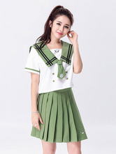 Anime Costumes AF-S2-666919 Japanese Anime Cosplay School Girl Uniform Green Uniform