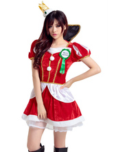 Anime Costumes AF-S2-666991 Sexy Christmas Costume Women's Red Dress With Headgear