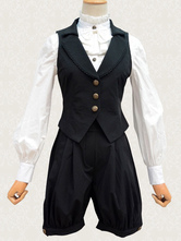 Classic Lolita Outfits Black Waistcoat And Shorts Lolita Suits