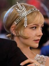 1920s Vintage Headband Flapper The Great Gatsby Silver Retro Costume Headpieces Halloween