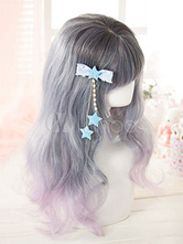 Sweet Lolita Hairpins Blue Starlet Pearls Finges Lolita Hair Accessories