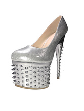 Sexy Platform Pumps High Heel Glitter Rivets Sexy Shoes