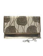 Wedding Clutch Bags Gold Bridal Bags Rose Flower Pattern Beading Rhinestone Evening Handbags Purse