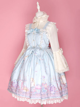Sweet Lolita Dress Fantasy Cosmetics JSK Chiffon Lace Trim Ruffles Jumper Skirt
