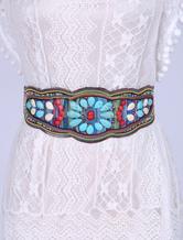 Boho Elastic Corset Sash Turquoise Beading Luxury Cowgirl Belts
