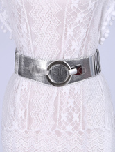 In pelle Siver corsetto Sash Corsetto elastico cintura donna