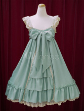 Sweet Lolita Dress JSK Chiffon Turquoise Sleeveless Lolita Jumper Skirt