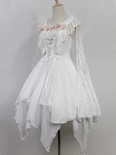 Gothic Lolita Dress Neverland Devil Ballet JSK White Lace Shawl Lolita Jumper Skirt