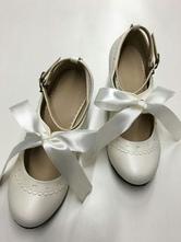 Sweet Lolita Shoes Ballet Lace Up Platform Round Toe