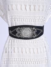 Cintura nera in cintura elastica in cintura in lana