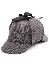 Faschingskostüm Klassischer Sherlock-Hut-heller Brown-Farben-Block-Karneval-Kostüm-Zusatz für Frauen Karneval Kostüm