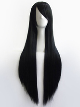 Anime Girls' Wig Black Long Cosplay Wig 80cm Halloween