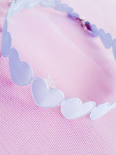 Sweet Lolita Choker Hearts Metal Details White Lolita Accessories