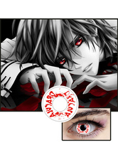 Vampire Knight Kuran Kaname Unisex Cosmetic Coloured Cosplay Party Red Eye Contact Lenses