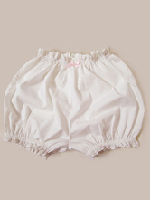 Classic Lolita Bloomers Lace Pleated White Lolita Shorts