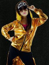 Faschingskostüm 0 1 in Hip Hop-Style für Damen Set Hoseundmit Überzieher Polyester und Farbblock Karneval Kostüm