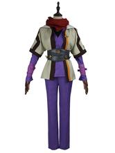 Kabaneri of the Iron Fortress de tecido de lã para uniforme Anime Japonês conjunto para homem roxa
