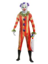 Clown Halloween Costume Kids Unisex Red Jumpsuit