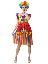 Disfraz Halloween Disfraz de Circo Payaso rojo para día de fiesta con vestido Carnaval Halloween